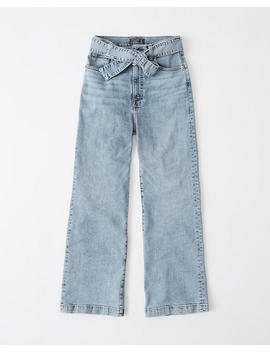 Ultra High Rise Wide Leg Jeans by Abercrombie & Fitch