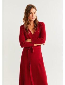 Φόρεμα πλεκτό κρουαζέ by Mango