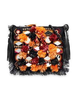 Embellished Woven Raffia Shoulder Bag by Antik Batik