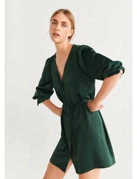 Φόρεμα κοντό κουμπιά by Mango