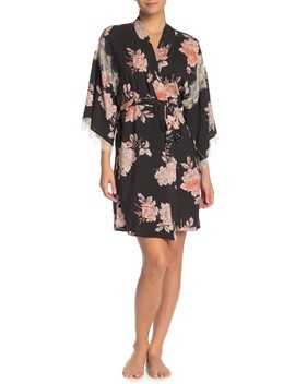 Bianca Floral Wrap Robe by Midnight Bakery