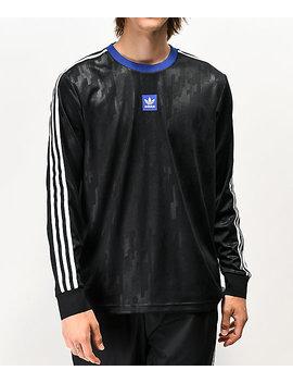 Adidas Dodson Black &Amp; Blue Long Sleeve Mesh Jersey by Adidas