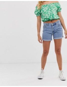 Pimkie Turnup Hem Shorts In Blue by Pimkie