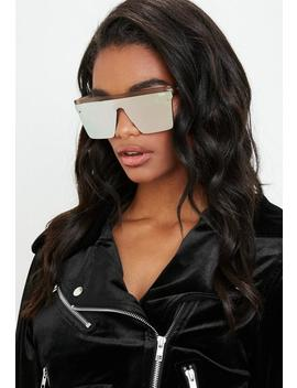 Quay Australia Hindsight Gold Sunglasses by Missguided