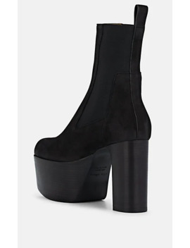 Suede Platform Chelsea Boots by Rick Owens
