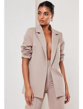 Mauve Co Ord Boyfriend Blazer by Missguided