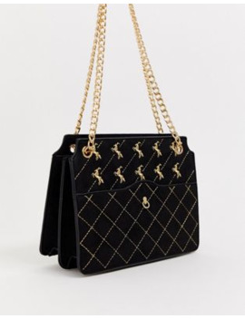 Skinnydip Filly Quilted Gold Chain Shoulder Bag by Skinnydip's