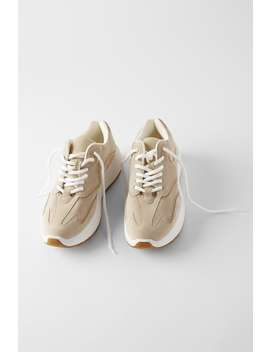 Metallic Split Suede Sneakers by Zara