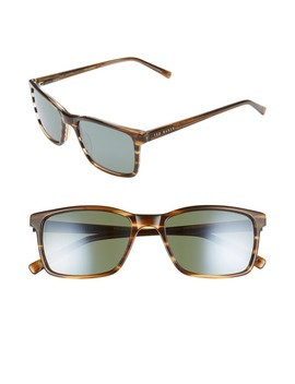 55mm Polarized Rectangle Sunglasses by Ted Baker London