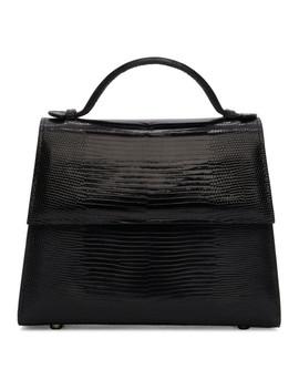 Black Small Lizard Top Handle Bag by Hunting Season