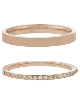 Rose Gold 2x Eternity Band Rings by Accessorize