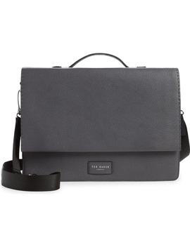 Housed Leather Satchel by Ted Baker London