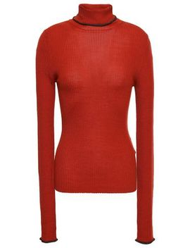 Ribbed Merino Wool Turtleneck Sweater by Acne Studios