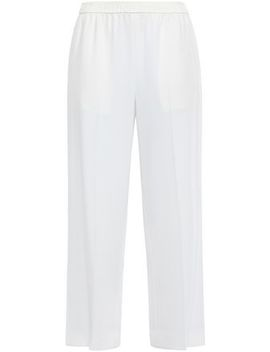 Cropped Crepe Wide Leg Pants by Helmut Lang