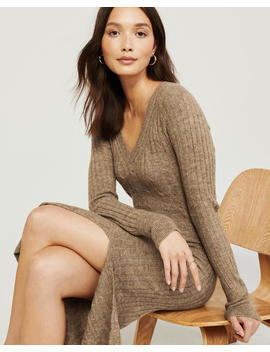 Tie Waist Sweater Dress by Abercrombie & Fitch