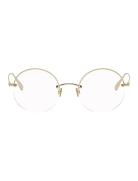 Gold Round Stellaire012 Glasses by Dior