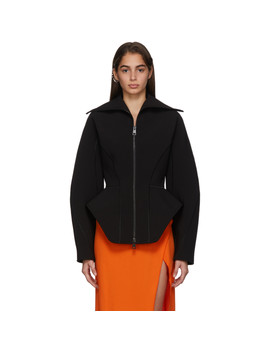 Black Scuba Jacket by Mugler