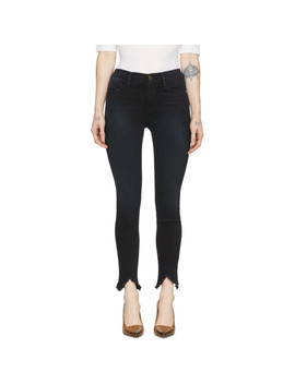 Navy 'le High Skinny' Double Triangle Jeans by Frame