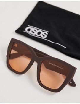 Большие солнцезащитные очки в квадратной оправе в стиле 70 х Asos Design by Asos Design