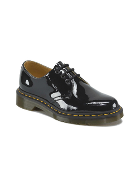 Dr. Martens Women's 1461 Patent 3 Eye Leather Shoes   Black Patent Lamper   Black by Dr. Martens