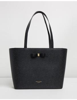 Jjesica Bow Detail Leather Shopper Bag by Ted Baker
