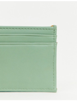 Asos Design Faux Leather Cardholder In Pale Green by Asos Design