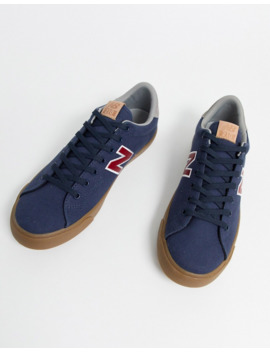 New Balance 210 Trainers In Navy With Gum Sole by New Balance