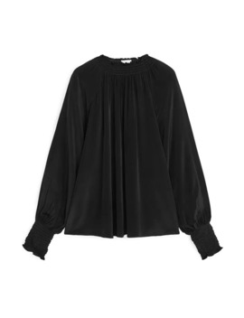 Shirred Neck Blouse by Arket