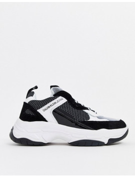 Calvin Klein Maya Chunky Trainers In Black And White by Calvin Klein