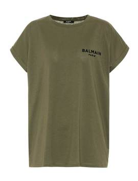 Cotton T Shirt by Balmain