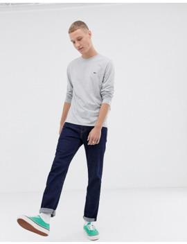 Lacoste Logo Long Sleeve T Shirt In Grey by Lacoste
