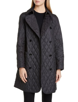 Tything Quilted Double Breasted Coat by Burberry