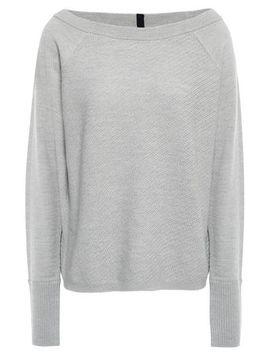 Paneled Textured Merino Wool Sweater by Duffy