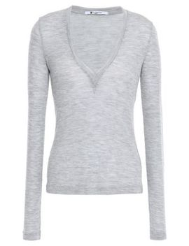 Mélange Ribbed Wool Sweater by Alexanderwang.T