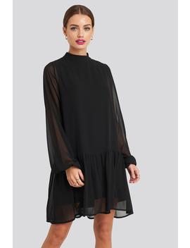 High Neck Balloon Sleeve Mini Dress Noir by Na Kd Party