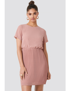 Pleated Skirt Part Dress Rose by Na Kd
