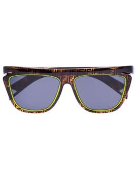 Neon Detail Ff Logo Sunglasses by Fendi