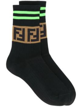 Ff Logo Socks by Fendi