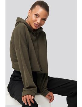 Hooded Cropped Sweatshirt Vert by Trendyol
