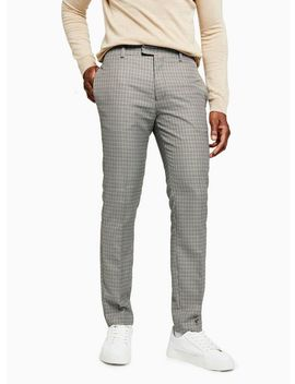 Mustard And Blue Check Skinny Smart Trousers by Topman