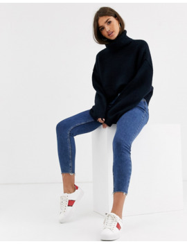Micha Lounge Luxe High Neck Heavy Rib Jumper by Micha Lounge