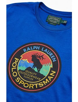 Polo Ralph Lauren Blue Sportsman T Shirt by Pacsun