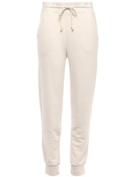 French Cotton Terry Track Pants by Vince.