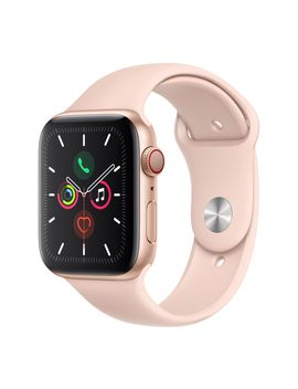 Watch Series 5 Cellular   Gold Aluminium With Pink Sand Sports Band, 40 Mm by Currys