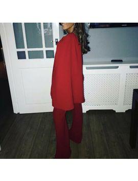 Sophie Brooke Fleck Cape One Shoulder Zara Goddess Wide Flare Jumpsuit   S by Unbranded