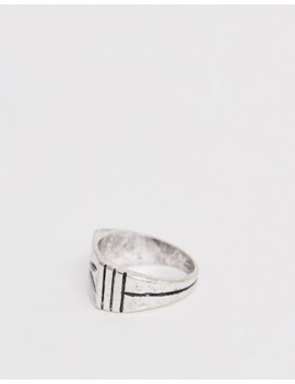 Classics 77 Palm Tree Signet Ring In Silver by Classics 77