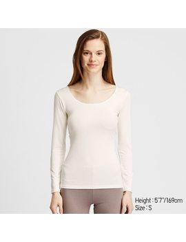 T Shirt Thermique Manches Longues En Heattech Femme by Uniqlo