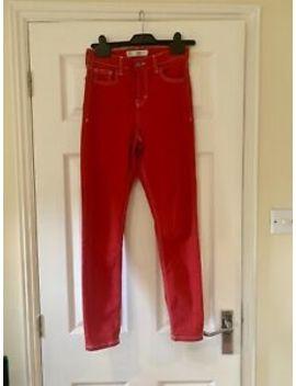 Topshop Moto Jamie Red Jeans by Ebay Seller