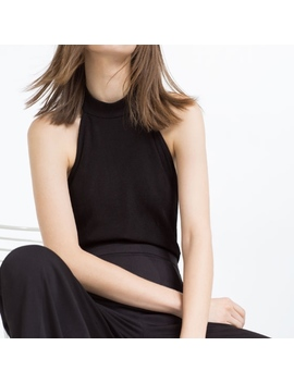 {Zara} Black Halter Neck Bodysuit Low Back by Zara