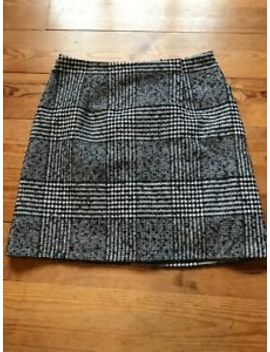 Fab Womens New Look Black And White Check Thick Winter Lined Skirt Size 8 by Ebay Seller